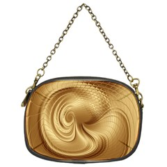 Gold Background Texture Pattern Chain Purses (one Side)  by Simbadda