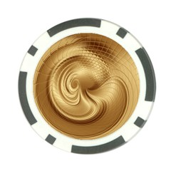 Gold Background Texture Pattern Poker Chip Card Guard (10 Pack) by Simbadda