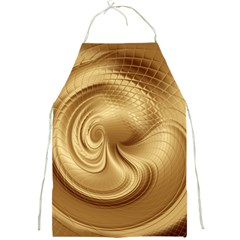 Gold Background Texture Pattern Full Print Aprons by Simbadda