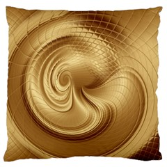 Gold Background Texture Pattern Large Cushion Case (two Sides) by Simbadda