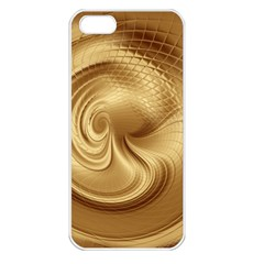 Gold Background Texture Pattern Apple Iphone 5 Seamless Case (white) by Simbadda