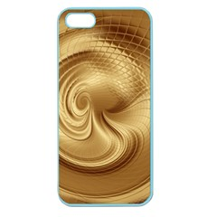 Gold Background Texture Pattern Apple Seamless Iphone 5 Case (color) by Simbadda