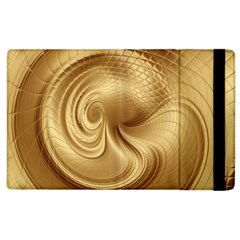 Gold Background Texture Pattern Apple Ipad 2 Flip Case by Simbadda