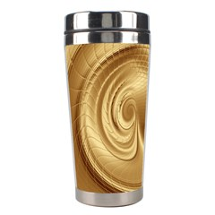 Gold Background Texture Pattern Stainless Steel Travel Tumblers by Simbadda