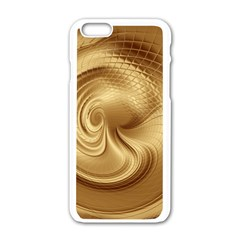 Gold Background Texture Pattern Apple Iphone 6/6s White Enamel Case