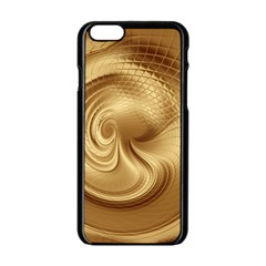 Gold Background Texture Pattern Apple Iphone 6/6s Black Enamel Case by Simbadda