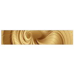 Gold Background Texture Pattern Flano Scarf (small) by Simbadda