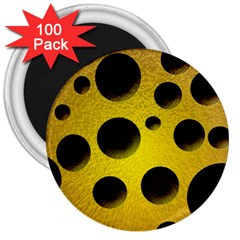 Background Design Random Balls 3  Magnets (100 Pack) by Simbadda