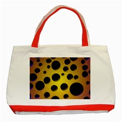 Background Design Random Balls Classic Tote Bag (red) by Simbadda