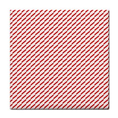 Pattern Red White Background Tile Coasters by Simbadda