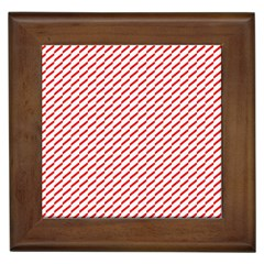 Pattern Red White Background Framed Tiles by Simbadda