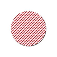 Pattern Red White Background Rubber Round Coaster (4 Pack)  by Simbadda