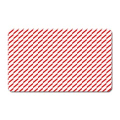 Pattern Red White Background Magnet (rectangular) by Simbadda