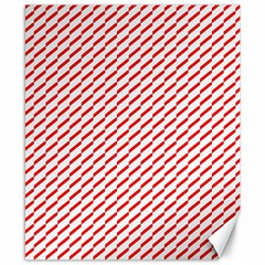 Pattern Red White Background Canvas 8  X 10  by Simbadda