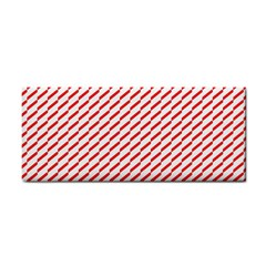 Pattern Red White Background Cosmetic Storage Cases by Simbadda