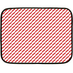 Pattern Red White Background Double Sided Fleece Blanket (mini)  by Simbadda