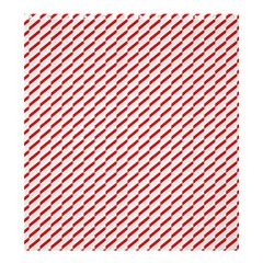 Pattern Red White Background Shower Curtain 66  X 72  (large)  by Simbadda