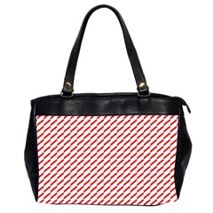 Pattern Red White Background Office Handbags (2 Sides)