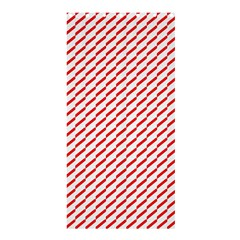 Pattern Red White Background Shower Curtain 36  X 72  (stall)  by Simbadda