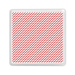 Pattern Red White Background Memory Card Reader (square)