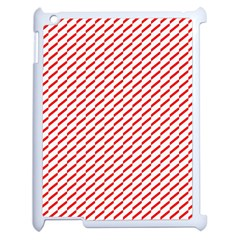 Pattern Red White Background Apple Ipad 2 Case (white) by Simbadda