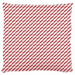 Pattern Red White Background Large Cushion Case (two Sides) by Simbadda