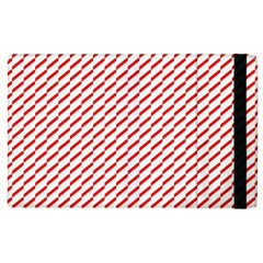 Pattern Red White Background Apple Ipad 3/4 Flip Case by Simbadda