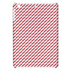 Pattern Red White Background Apple Ipad Mini Hardshell Case by Simbadda
