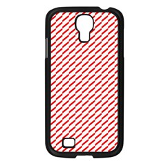 Pattern Red White Background Samsung Galaxy S4 I9500/ I9505 Case (black)