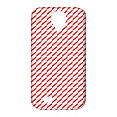 Pattern Red White Background Samsung Galaxy S4 Classic Hardshell Case (pc+silicone) by Simbadda