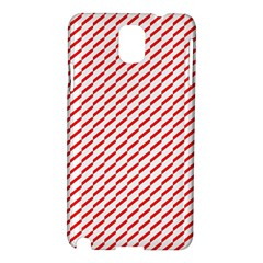 Pattern Red White Background Samsung Galaxy Note 3 N9005 Hardshell Case by Simbadda