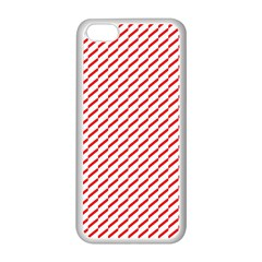 Pattern Red White Background Apple Iphone 5c Seamless Case (white) by Simbadda