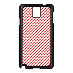 Pattern Red White Background Samsung Galaxy Note 3 N9005 Case (black) by Simbadda