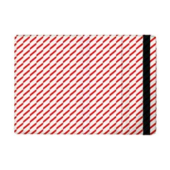 Pattern Red White Background Ipad Mini 2 Flip Cases by Simbadda