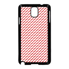 Pattern Red White Background Samsung Galaxy Note 3 Neo Hardshell Case (black) by Simbadda