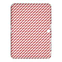 Pattern Red White Background Samsung Galaxy Tab 4 (10 1 ) Hardshell Case  by Simbadda