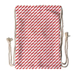 Pattern Red White Background Drawstring Bag (large) by Simbadda