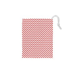 Pattern Red White Background Drawstring Pouches (xs)  by Simbadda