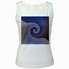 Logo Wave Design Abstract Women s White Tank Top by Simbadda