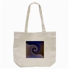 Logo Wave Design Abstract Tote Bag (cream) by Simbadda