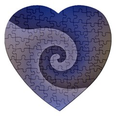 Logo Wave Design Abstract Jigsaw Puzzle (heart) by Simbadda