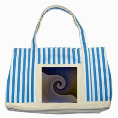 Logo Wave Design Abstract Striped Blue Tote Bag by Simbadda