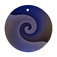 Logo Wave Design Abstract Round Ornament (two Sides)