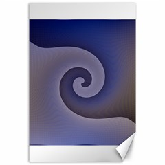Logo Wave Design Abstract Canvas 24  X 36  by Simbadda