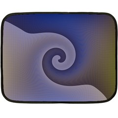 Logo Wave Design Abstract Double Sided Fleece Blanket (mini)  by Simbadda