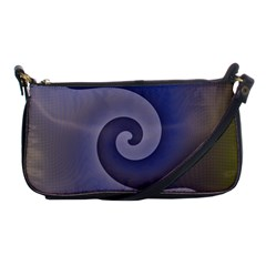 Logo Wave Design Abstract Shoulder Clutch Bags by Simbadda