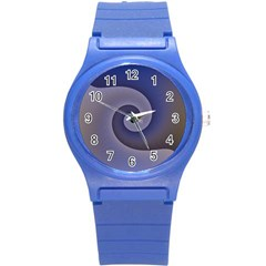 Logo Wave Design Abstract Round Plastic Sport Watch (s) by Simbadda