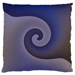 Logo Wave Design Abstract Large Cushion Case (two Sides)