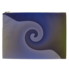 Logo Wave Design Abstract Cosmetic Bag (xxl)  by Simbadda