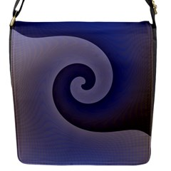 Logo Wave Design Abstract Flap Messenger Bag (s) by Simbadda